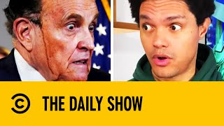 Rudy Giuliani Leaks Hair Dye In The Middle Of Press Conference | The Daily Show With Trevor Noah