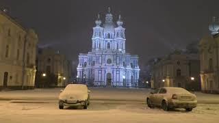 в моем городе первый снег