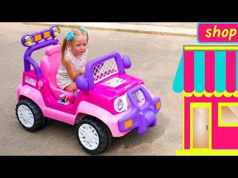 Настя и папа играют в магазин игрушек и отель - сборник про сюжетные игры