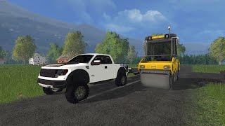 Farming Simulator 15 Lawn Care Construction Ep #12 Paving The Pad