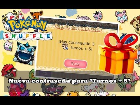 """Nueva contraseña para """"Turnos + 5"""" - Pokémon Shuffle"""