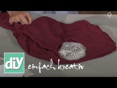 Shirt mit Spitze  | DIY einfach kreativ