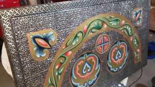 Басма для иконостаса из серебра, басменная мастерская