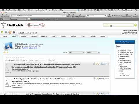 Video of PubMed by MedFetch: PDFs & CME