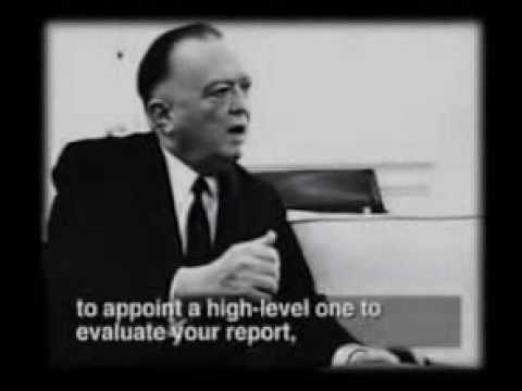 Cover up in progess: J. Edgar Hoover and Lyndon Johnon