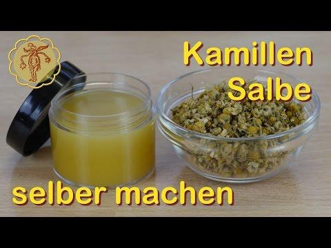 Kamillen-Salbe selber machen - Grundrezept für Kräutersalben