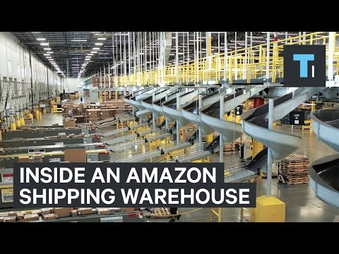 Inside an Amazon warehouse on Cyber Monday