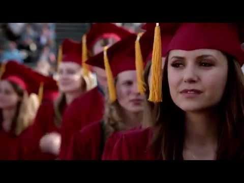 Vampire Diaries 4x23 Graduation - Bonnie, Elena, Caroline, Matt & Stefan Graduate