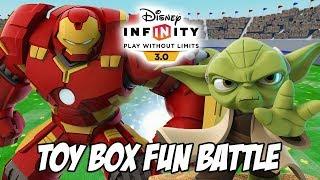 Hulkbuster And Yoda Disney Infinity 3.0 Toy Box Fun Battle Gameplay