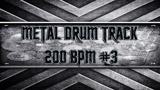 Slayer Style Metal Drum Track 200 BPM (HQ,HD)