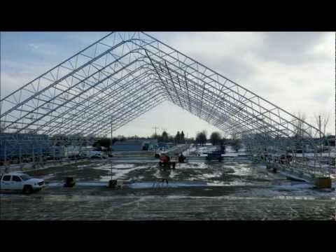 Construction of the BRITESPAN Building Systems Manufacturing Facility in Wingham, Ontario, Canada