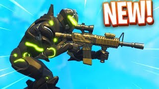 "New ""THERMAL SCOPED AR"" Gameplay in Fortnite.."