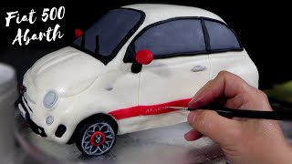 Fiat 500 Abarth Car Cake Tutorial
