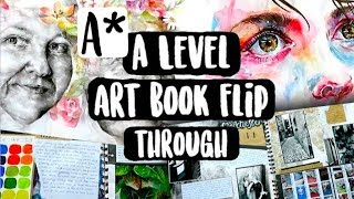 A* A Level Fine Art Book Flip Through (first Year)
