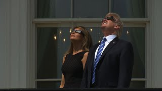 Trump Watches Eclipse From White House