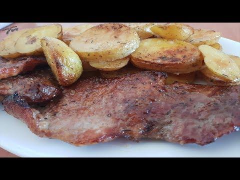 Secreto de cerdo iberico al horno con patatas. Receta navidad. #1