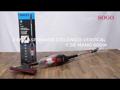 SOGO SS-16120 - 2 EN 1 ASPIRADOR CICLÓNICO VERTICAL Y DE MANO