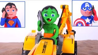 Superhero Saves The Excavator ❤ Cartoons For Kids
