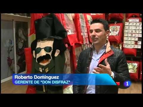 Disfraces de Guardia Civil. Don Disfraz en el Telediario de RTVE