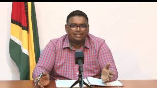 Update by President-elect Dr Irfaan Ali May 28th 2020