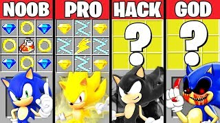 Minecraft Battle: SONIC THE HEDGEHOG CRAFTING CHALLENGE - NOOB vs PRO vs HACKER vs GOD ~ Animation