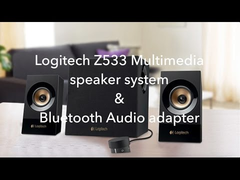 Logitech Z533 Speakers & Bluetooth audio adapter. Fast unboxing, Sound quality test / review