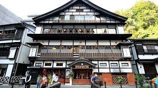 山形県銀山温泉の温泉街GinzanOnsen,YamagataJapan2017.9