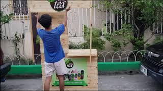 MILKTEA Folding Food Cart   Infinitea   Pinoy Version