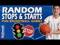 Fun Basketball Drills For Kids Stops And Starts warmup