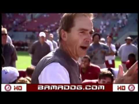 Nick Saban Throws Hat