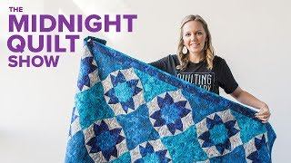 Grotto Curved Illusion Flower Quilt | Midnight Quilt Show With Angela Walters
