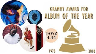 Grammy Award for: Album of the Year (1978-2018)