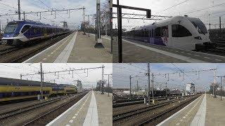 Bahnverkehr im Bahnhof Venlo(NL) mit CAF SNG Testfahrt,DD-(V)IRM, Stadler GTW und Flirt und Güterzug