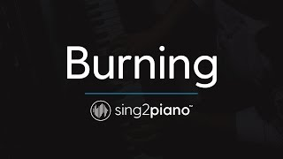 Burning (Piano Karaoke Instrumental) Sam Smith