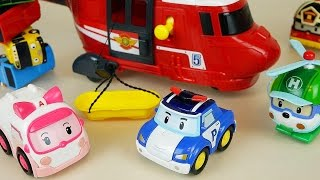 Robocar Poli Car Toys Helicopter Rescue And Tayo Bus