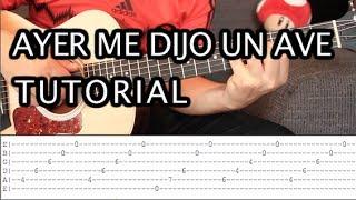 "Como Tocar ""Ayer Me Dijo Un Ave"" De Caifanes - Tutorial Guitarra (HD)"