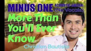 Christian Bautista - More Than You'll Ever Know Acoustic Minus One