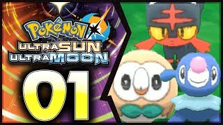 Rowlet  - (Pokémon) - Pokemon Ultra Sun and Moon: Part 1 - Litten, Rowlet, and Popplio! [100% Walkthrough]