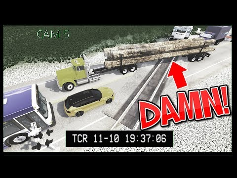 Train Accidents #8 CCTV Edition - BeamNG Drive