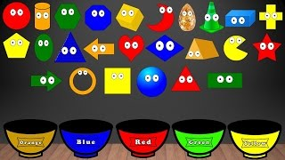 Learn Shapes Song, Color Sorting For Kids, Educational Video Kindergarten Preschool Game