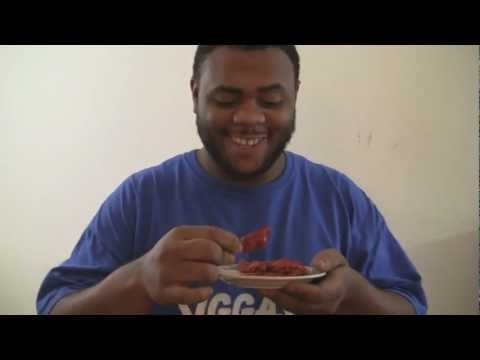 Black Man VS 3 Bhut jolokia GHOST PEPPERS! dipped in hot sauce