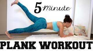4 Minute Plank Workout - Smaller waist from home! by vicky justiz