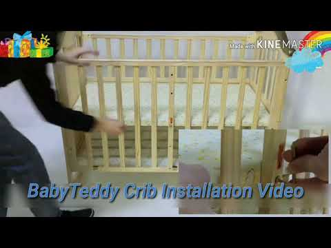 BabyTeddy Baby Crib  Baby Cot Installation Video