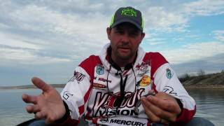 How to fish a ribbed swimbait in cold water for bass