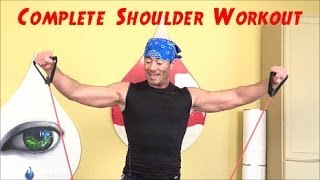 Complete Shoulder Workout with Resistance Tubes/Building Deltoid Muscles. www.trainermarcelo.com by Trainer Marcelo