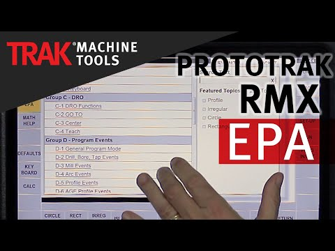 EPA [Enhanced ProtoTRAK Assistance] | ProtoTRAK RMX CNC | Basic Mill Programming