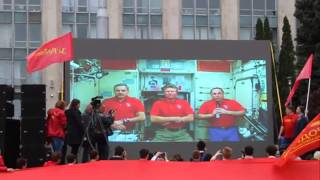 Марш Победы и Видеосвязь с МКС - За Родину! Игорь Тулянцев