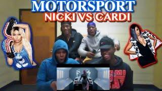 Migos   MotorSport (Nicki Vs Cardi B)   REACTION!