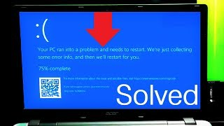 How to Fix Windows 10 Startup Error Issue | Your PC Ran Into a Problem and Needs to Restart
