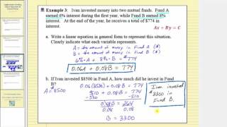 Application:  Writing Linear Equation in General Form (Part 2)